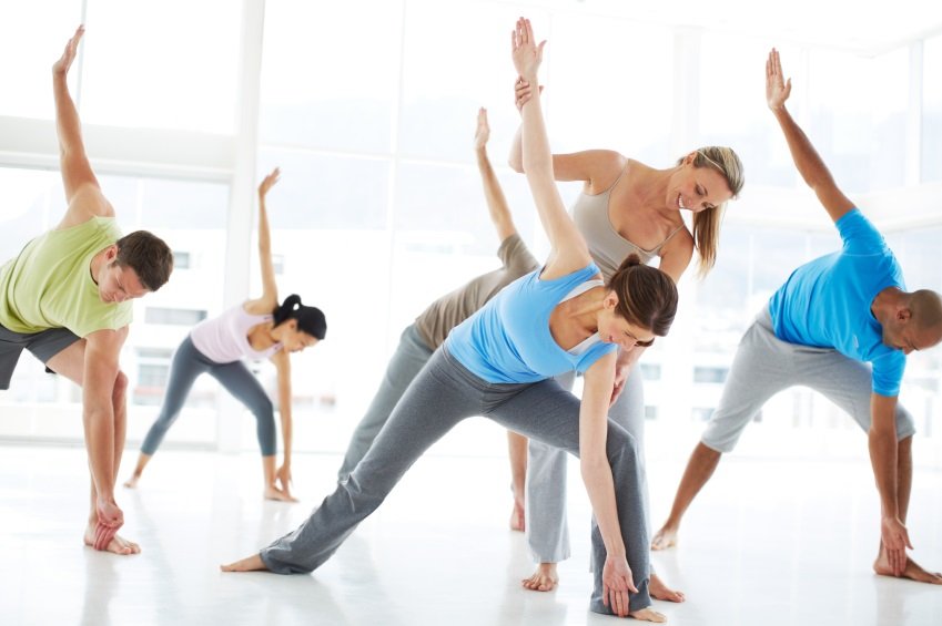Taking a yoga class keeps them stress free